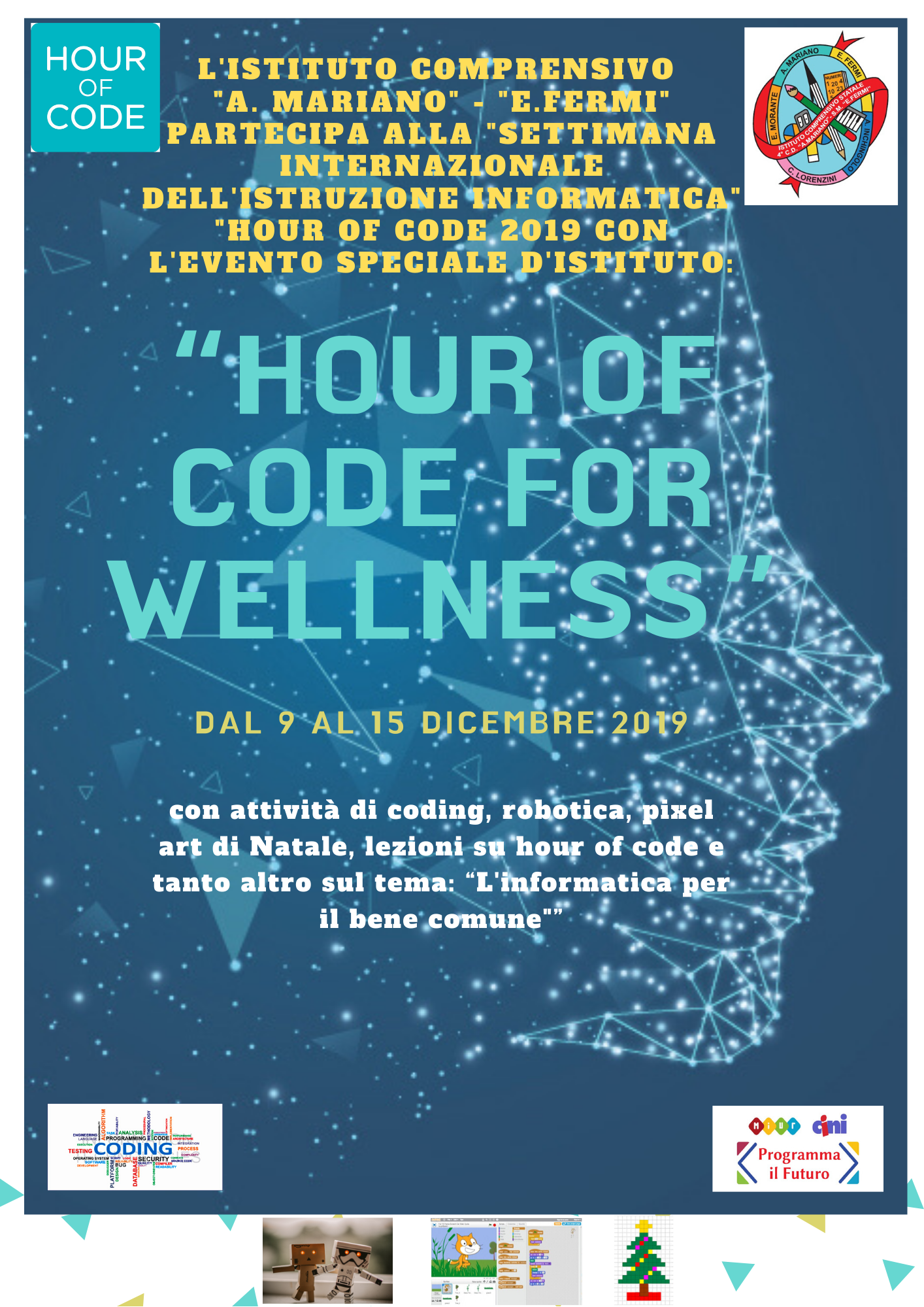 "Locandina in miniatura espandibile con link dell'evento ""Hour of code for wellness"""